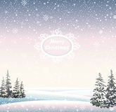 Winter Christmas landscape. Royalty Free Stock Photography