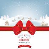 Winter Christmas Landscape Stock Images