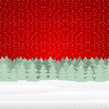 Winter Christmas landscape Royalty Free Stock Photo