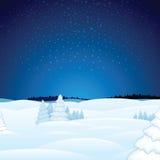 Winter Christmas Landscape Vector Stock Photo