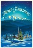 Winter Christmas landscape. Stock Photos