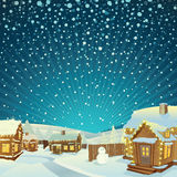 Winter Christmas Landscape Stock Images