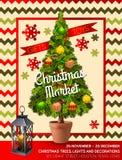 Winter Christmas market. Royalty Free Stock Photography