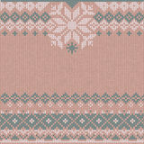 Winter Christmas x-mas knit background Knitted pattern. Flat style design. Royalty Free Stock Photo