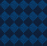 Winter Christmas x-mas knit seamless background Knitted pattern. Flat design. Royalty Free Stock Image