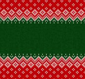 Winter Christmas Scandinavian knitted seamless abstract background frame and border. Winter Christmas x-mas knitted seamless abstract background frame and Royalty Free Stock Photography