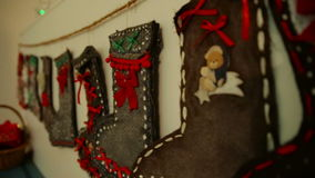 Winter Christmas and new year decoration stock video