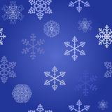 Winter christmas new year seamless pattern. /beautiful texture with snowflakes Stock Illustration