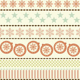 Winter Christmas New Year Seamless Pattern. Beautiful Texture with Snowflakes Stock Illustration