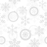 Winter Christmas New Year Seamless Pattern. Beautiful Texture with Snowflakes Royalty Free Stock Photo