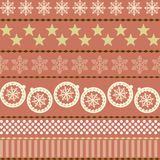 Winter Christmas New Year Seamless Pattern. Beautiful Texture with Snowflakes Royalty Free Illustration