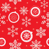 Winter Christmas New Year Seamless Pattern. Stock Photos