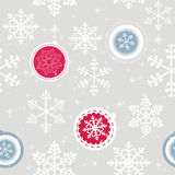 Winter Christmas New Year Seamless Pattern, Royalty Free Stock Photography