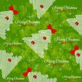 Winter Christmas New Year Seamless Pattern Stock Image