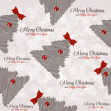 Winter Christmas New Year Seamless Pattern, Stock Images