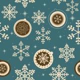 Winter Christmas New Year Seamless Pattern. Stock Photo