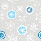 Winter Christmas New Year Seamless Pattern,. Beautiful Texture with Snowflakes Stock Illustration
