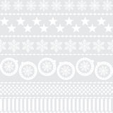 Winter Christmas New Year Seamless Pattern. Beautiful Texture with Snowflakes Vector Illustration
