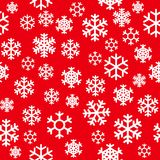 Winter christmas new year seamless pattern. beautiful texture with snowflakes Vector Illustration Royalty Free Stock Photography
