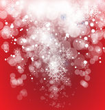 Winter christmas and new year sky. Snow falling down from winter christmas and new year sky Royalty Free Stock Images