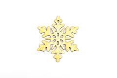 Winter,Christmas, New Year wooden decoration - snowflake, star. Royalty Free Stock Images