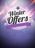 Winter and christmas offers advert backgound Royalty Free Stock Image