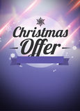 Winter and christmas offers advert backgound Stock Images