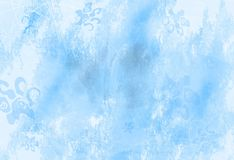 Winter / Christmas old grunge paper. With textured light blue background Royalty Free Stock Photography