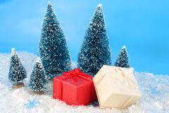 Winter christmas presents Royalty Free Stock Photography