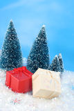 Winter christmas presents Stock Photo