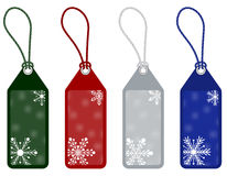 Winter or christmas price tags. Isolated set of winter or christmas tags on white background Stock Images