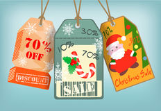Winter Christmas Sale Tags Royalty Free Stock Images