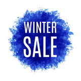 Winter or Christmas sale template. Winter sale background.Imitation of watercolor. Vector illustration Stock Photo