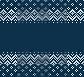 Winter Christmas Scandinavian knitted seamless abstract background frame and border. Winter Christmas x-mas knitted seamless abstract background frame and Royalty Free Stock Photo