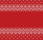 Winter Christmas Scandinavian knitted seamless abstract background frame and border. Winter Christmas x-mas knitted seamless abstract background frame and Royalty Free Stock Image
