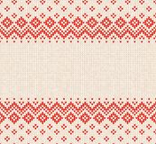 Winter Christmas Scandinavian knitted seamless abstract background frame and border. Winter Christmas x-mas knitted seamless abstract background frame and Stock Photography