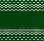 Winter Christmas Scandinavian knitted seamless abstract background frame and border. Winter Christmas x-mas knitted seamless abstract background frame and Stock Images