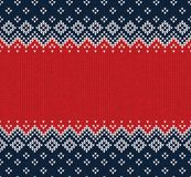 Winter Christmas Scandinavian knitted seamless abstract background frame and border. Winter Christmas x-mas knitted seamless abstract background frame and Stock Photos