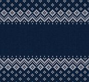 Winter Christmas Scandinavian knitted seamless abstract background frame and border. Winter Christmas x-mas knitted seamless abstract background frame and Royalty Free Stock Images