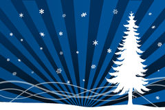 Winter christmas scenario. Vectorial illustration for a winter snowy or christams background Stock Photography