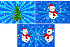Winter and Christmas scene Royalty Free Stock Photography