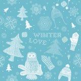 Winter Christmas Seamless Pattern Royalty Free Stock Image