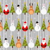 Winter Christmas seamless pattern Stock Photos