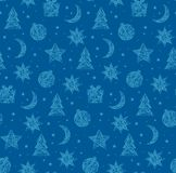 Winter christmas seamless pattern Royalty Free Stock Photo
