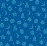 Winter christmas seamless pattern. Vector illustration Royalty Free Stock Photo