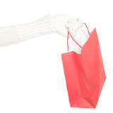 Winter christmas shopping bag isolated Royalty Free Stock Photo