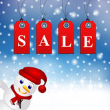 Winter christmas shopping sale Royalty Free Stock Photos