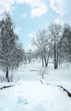 Winter Christmas snow scene Royalty Free Stock Images