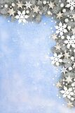 Winter and Christmas Snowflake Star and Snow Background
