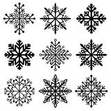 Winter christmas snowflakes Stock Image
